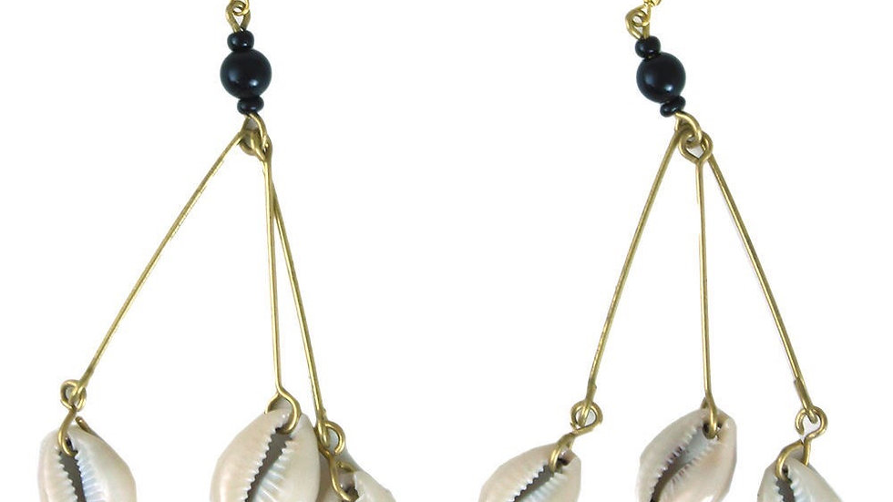 3 Shell Dangle Earrings