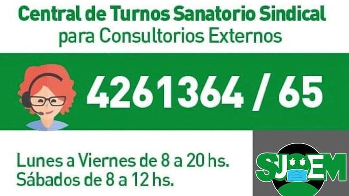 Central de turnos Sanatorio Sindical