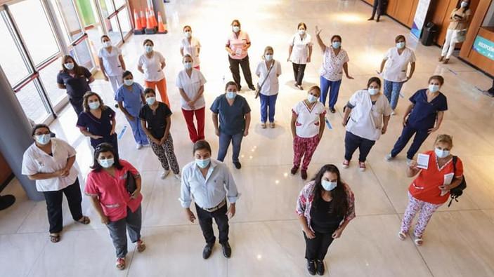 Municipales participan en la campaña de vacunación