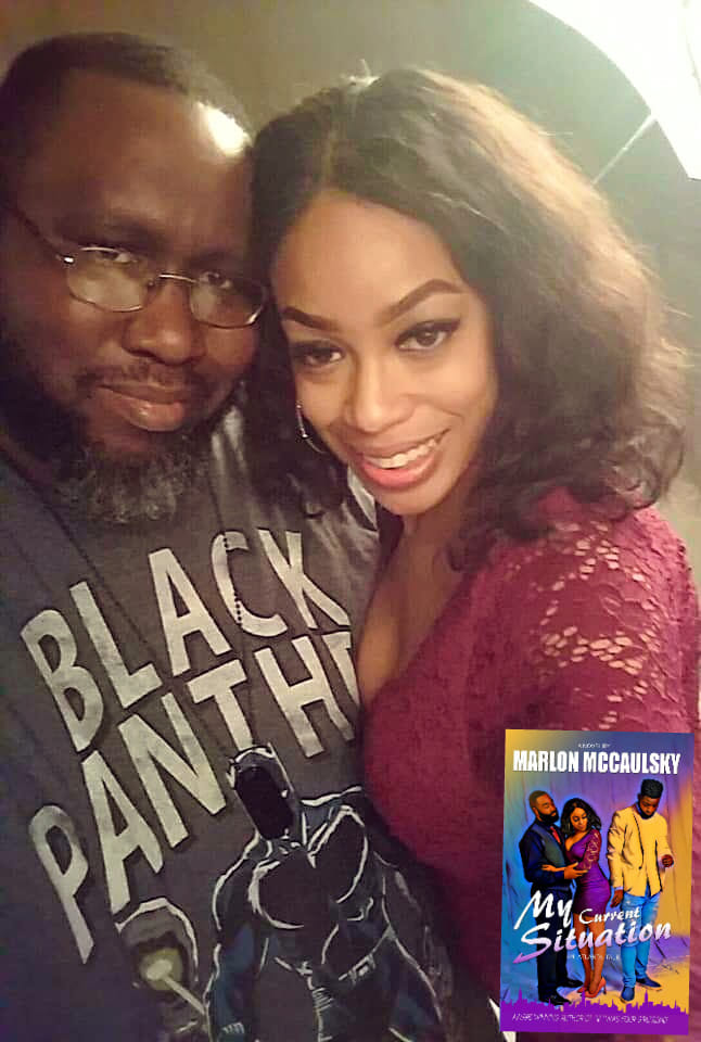 Author Marlon McCaulsky and Actress Chas