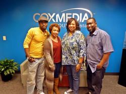 award winning news anchor Condace Presley with Director Lamont Gant and actresses Theresa Sullivan.