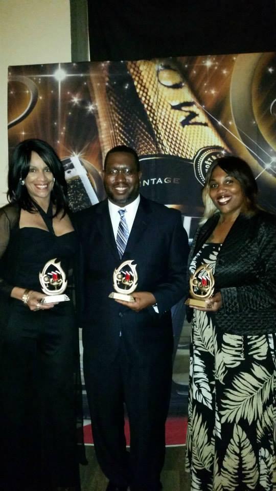 GANSPA AWARD WINNERS Marissa Monteilh, Marlon McCaulsky, and Norlita Brown