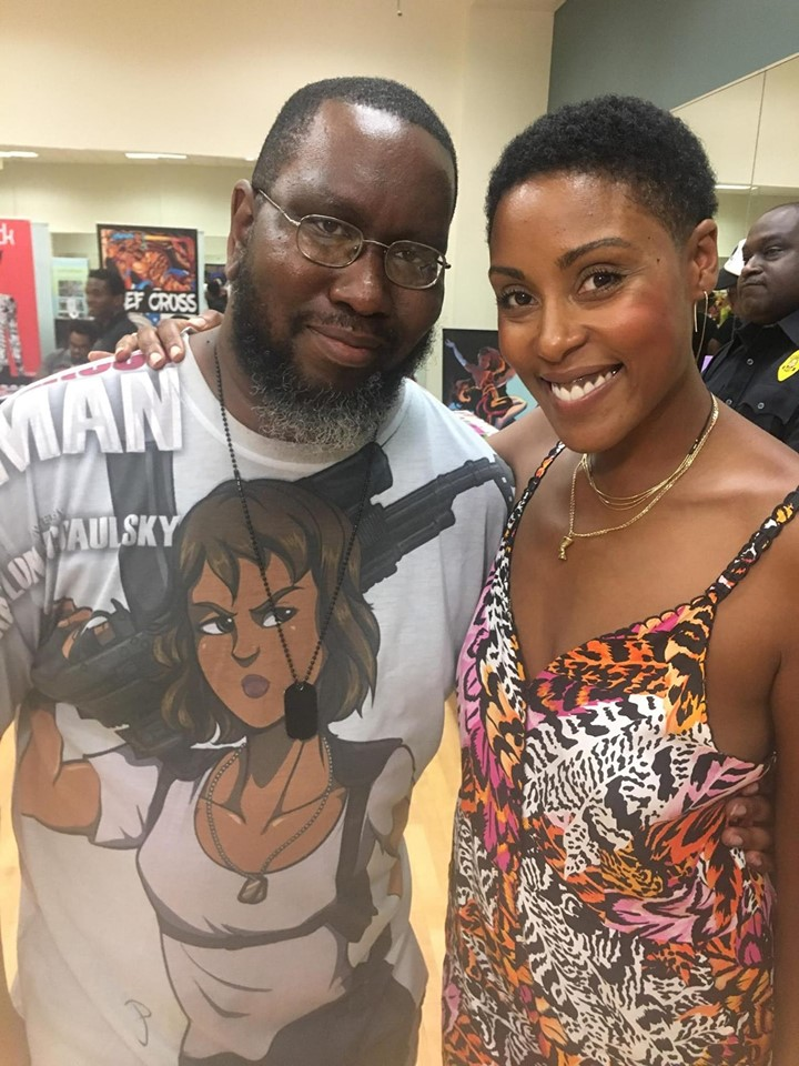 Author Marlon McCaulsky and Actress Chis