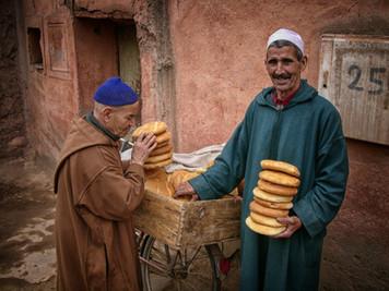 Bread Sellers, Marrakech, Morocco