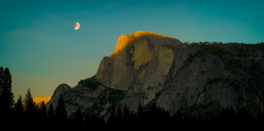 Moonrise over Half Dome, Yosemite Valley