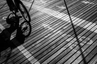 Cycling into Brooklyn, New York, USA