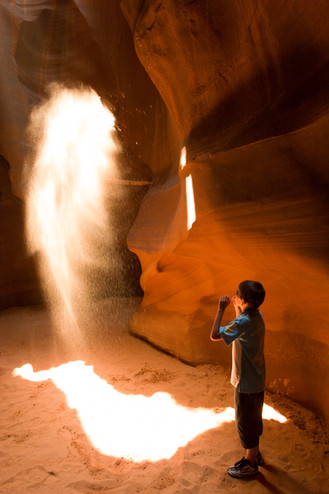 Sandstorm, Antelope Canyon, Arizona, USA