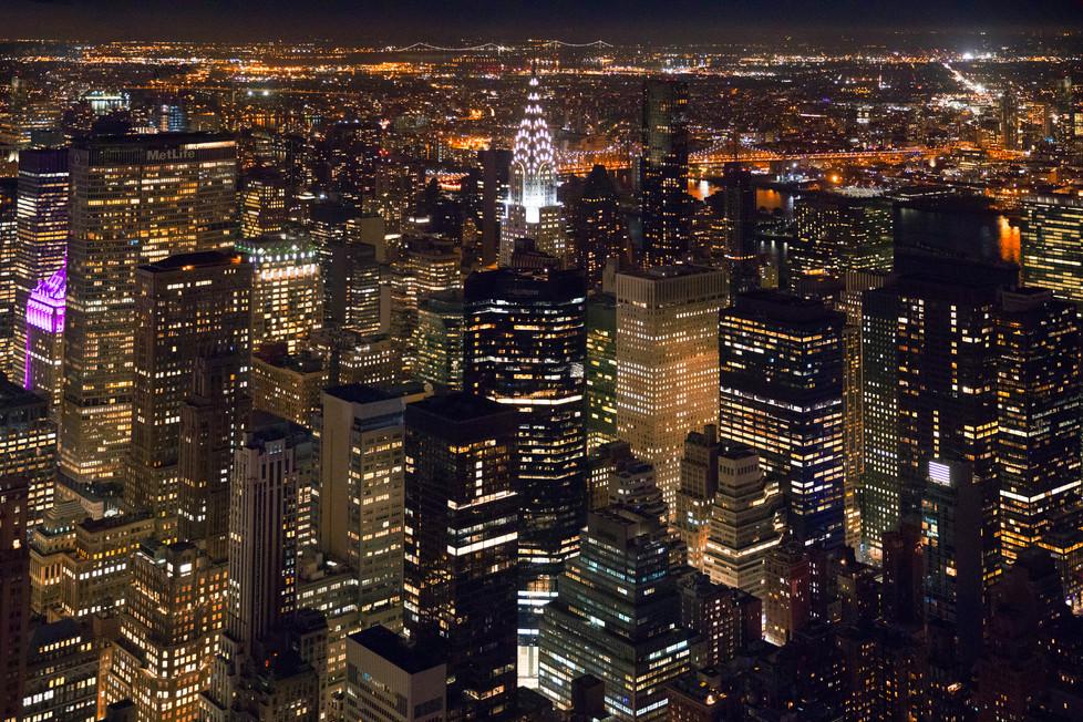 Chrysler Building at Night, New York, US