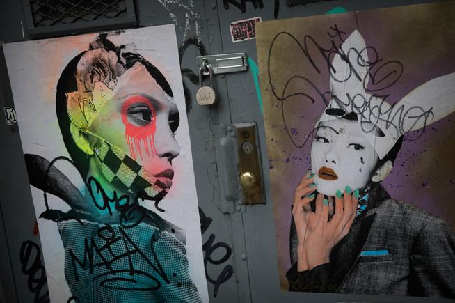 Graffiti Girls, Lower Manhattan, New York, USA