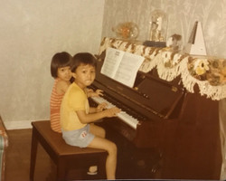 childhood piano practice with my brother