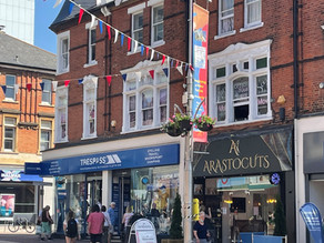 Southend BID place floral hanging baskets throughout the town for the eighth year