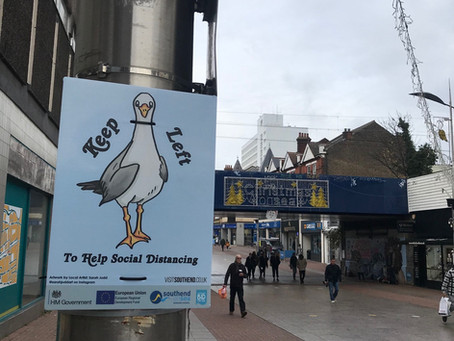 Local artists promote shop safely messages across the Borough