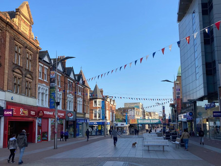 Bunting Installed Across Southend High Street