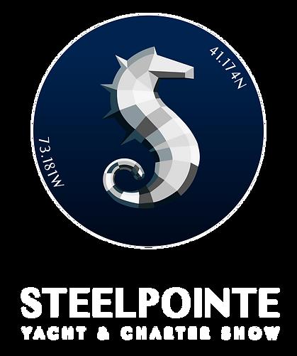 white text Steelpointe-Yacht-&-Charter-S