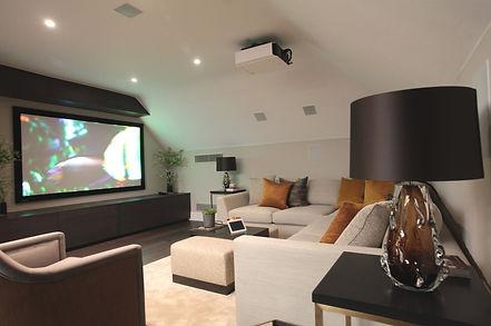 media room, media room design, entertainment room, hvac control system, light controller, surrey