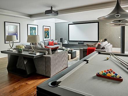 game room, media room installation, media game room, home network wiring, home media system, barnes