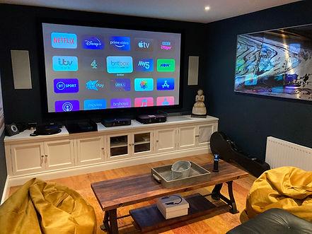 home cinema installation, media room, media room design, home cinema system, media game room, Hammersmith