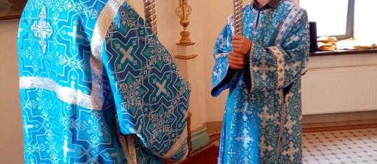 Богослужение в Праздник Успения Пресвятой Богородицы.