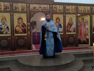 Богослужение в канун праздника Похвалы Пресвятой Богородицы.