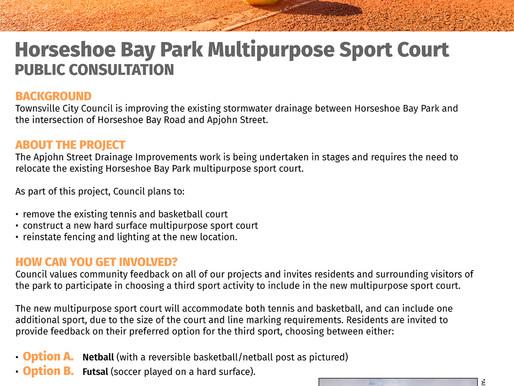 Feedback on Horseshoe Bay sport court