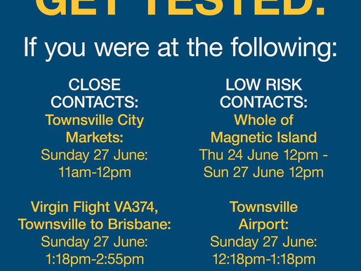 TOWNSVILLE LOCKDOWN: It's really important if you've been at these locations to do the following: