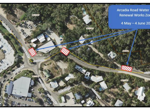 Construction of new water mains on Arcadia Road to begin next week