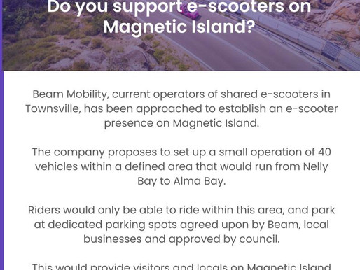E - Scooters for Magnetic Island have your say...