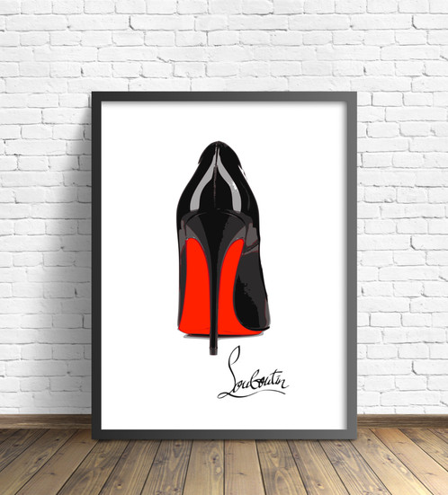 Christian Louboutin Shoes Wall Art   The Shoes Weu0027ve Always Coveted, But  Canu0027t Necessarily Walk In (winking At My Friend Georgie). Idolise Them From  A Safer ...