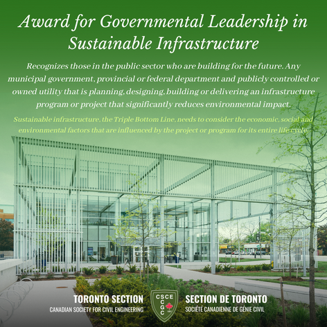 Award for Governmental Leadership in Sus