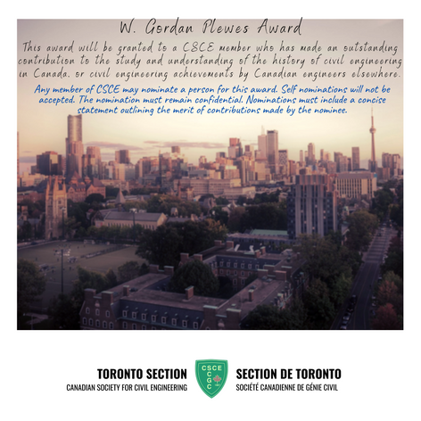 W. Gordon Plewes Award