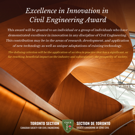 Excellence in Innovation in Civil Engineering Award