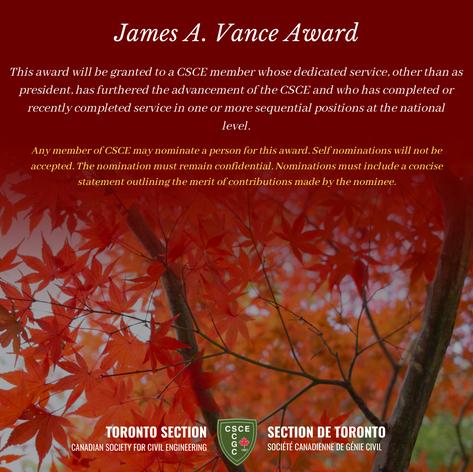 James A. Vance Award