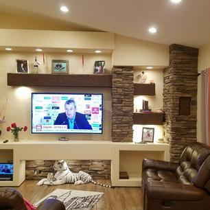 Custom built media wall