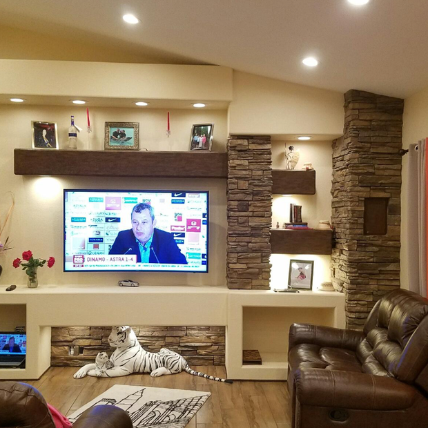 Custom built media wall