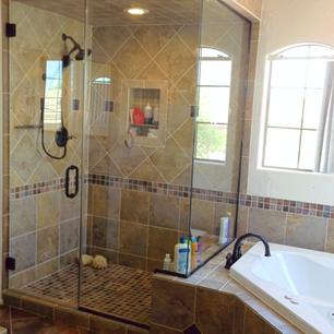 Custom built steam shower