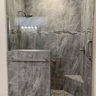 Custom built walk in shower