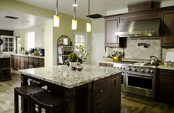 Kitchen Interior Home Architecture Stock