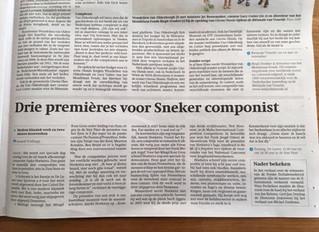 Interview in Friesch Dagblad @ 3 upcoming premieres