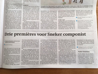Interview in Friesch Dagblad @ 3 upcoming premieres
