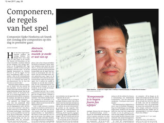 Interview in Leeuwarder Courant @ 3 upcoming premieres!