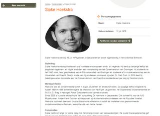 Sipke Hoekstra in Frisian Music Archive