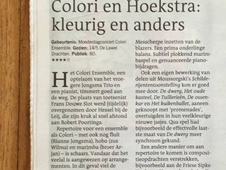 """Intriguing""! Nice review @ premiere Spectrum a 4 by the Colori Ensemble in LC"