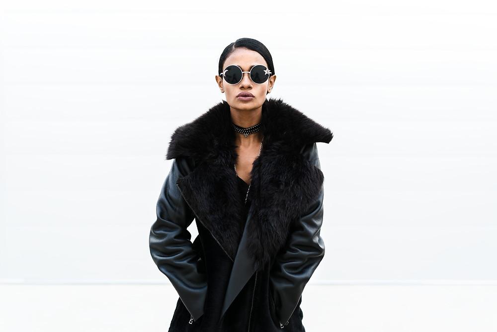 Model wearing glasses