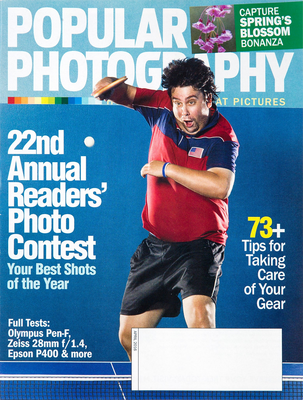 Ping Pong Guy, cover of popular photography