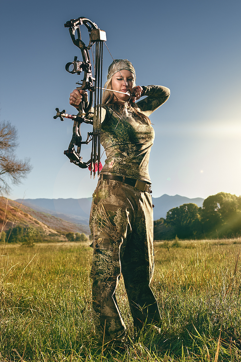 Heroic Portrait of a bowhunter