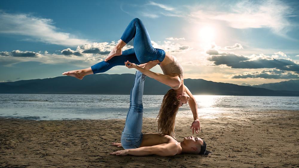 Acro-Yoga on the Beach