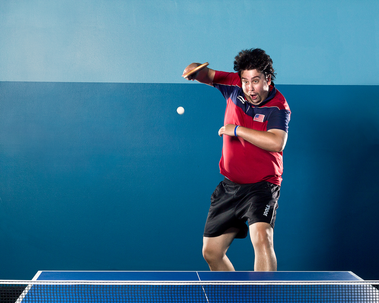 Funny Ping Pong Ad Photo