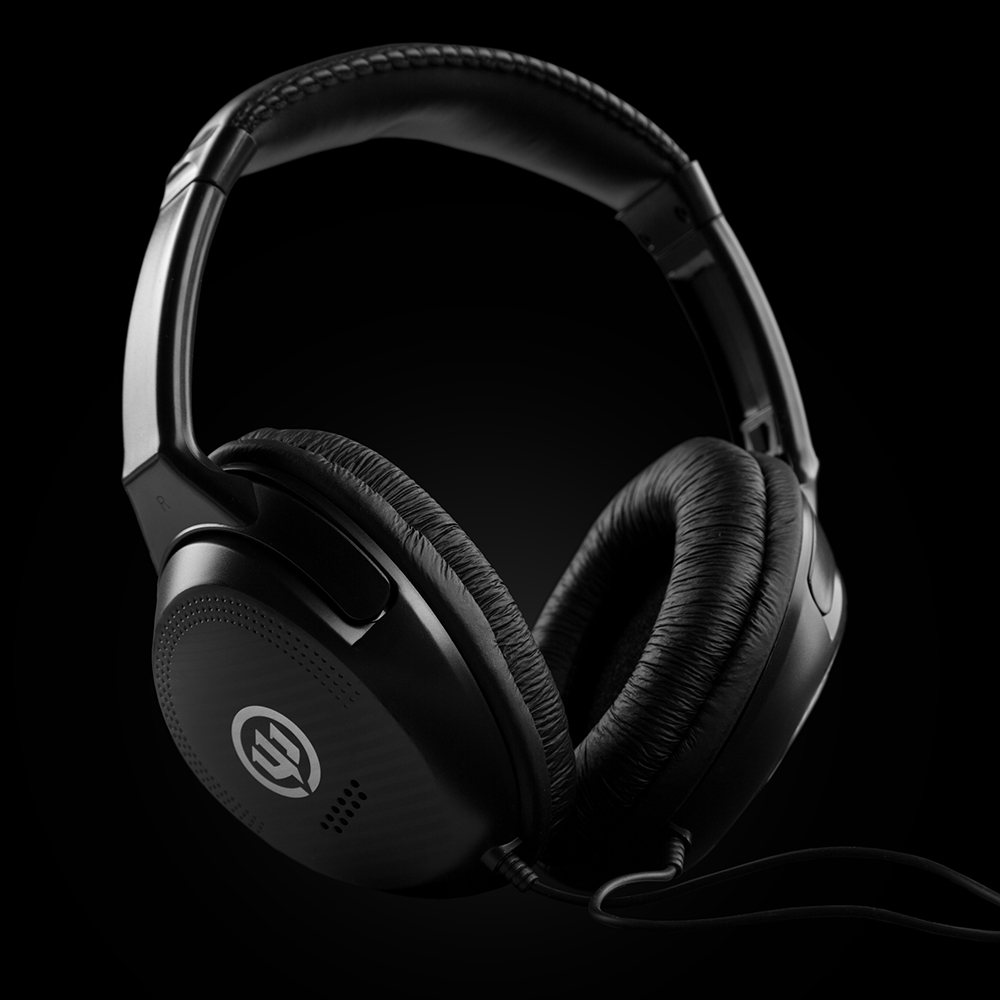 Headphones Product Photography on Black