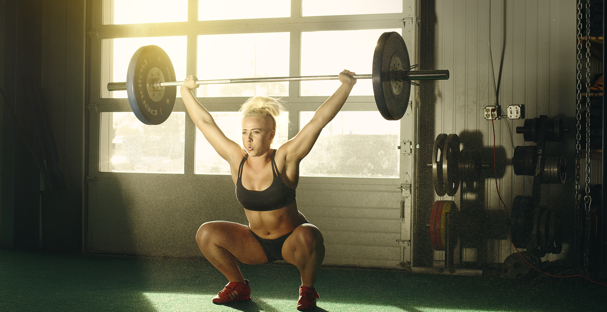 Crossfit Female Athlete Action
