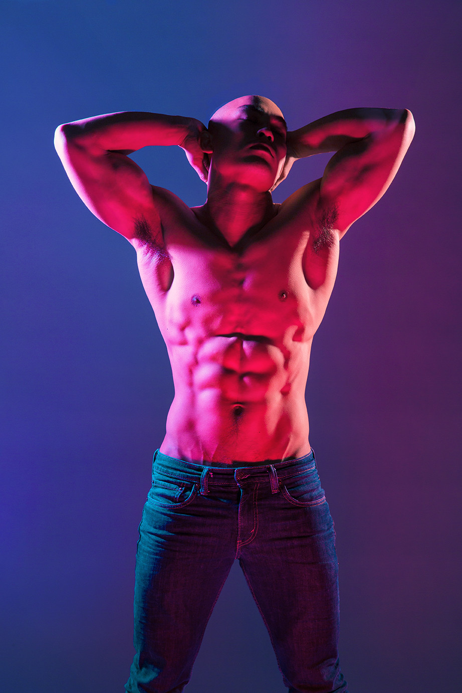 fitness photography of abs